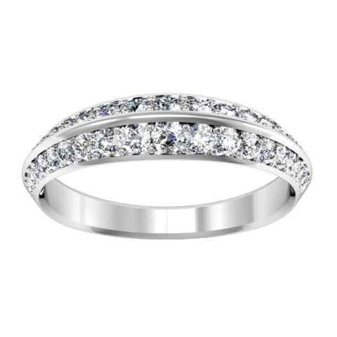 knife edge diamond wedding ring