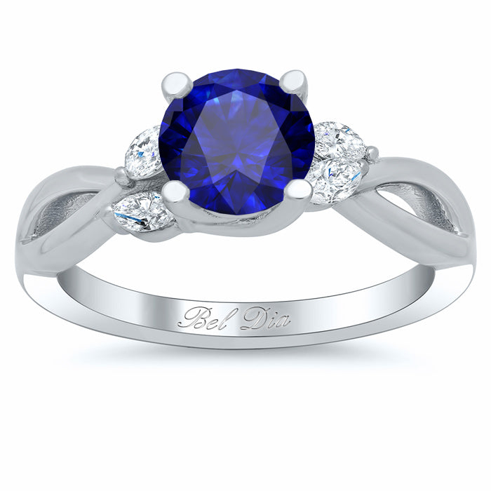 nature inspired sapphire engagement rings