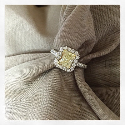 Radiant Yellow Diamond Engagement Ring