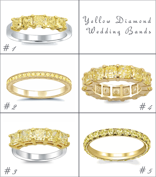 Yellow Diamond Wedding Bands deBebians