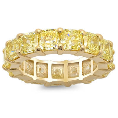 Yellow Diamond Eternity Rings