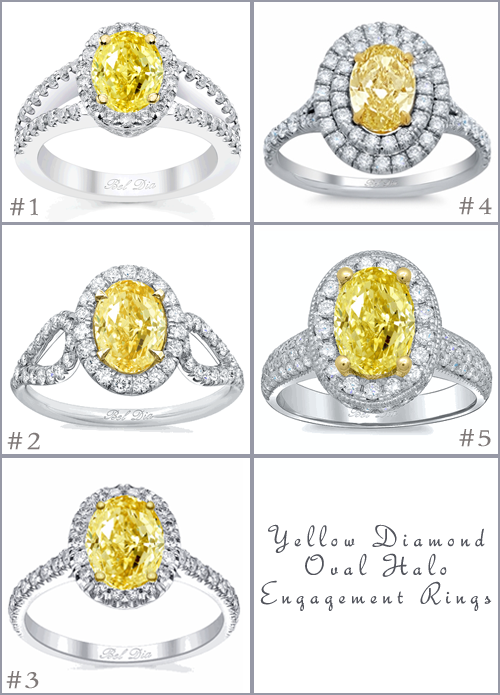 Yellow Oval Diamond Engagement Rings