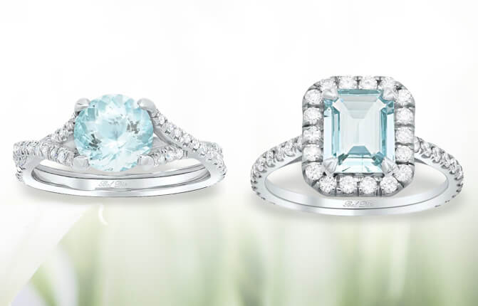 Aquamarine Engagement Rings