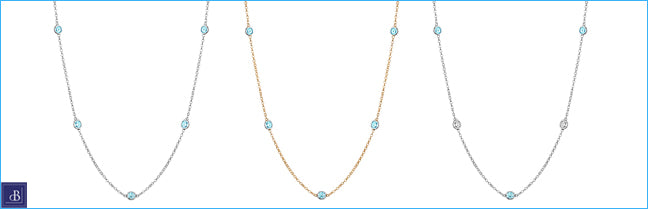 aquamarine station necklaces