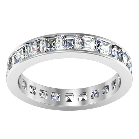 Asscher Diamond Eternity Ring