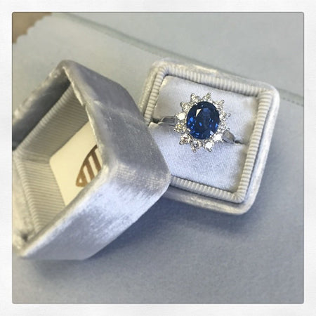 Blue Sapphire Engagement Rings