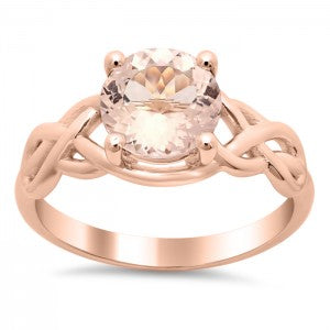 Celtic Knot Morganite Engagement Ring