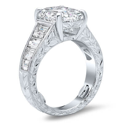 Diamond & Platinum Channel Set Engagement Ring