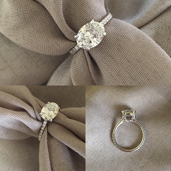 Oval East-West Engagement Ring