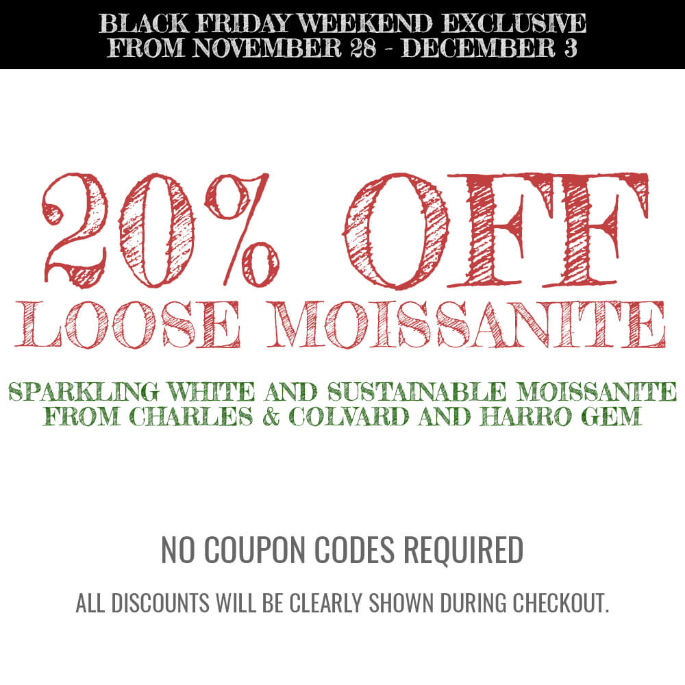 20% OFF Loose Charles and Colvard and Harro Gem Moissanite