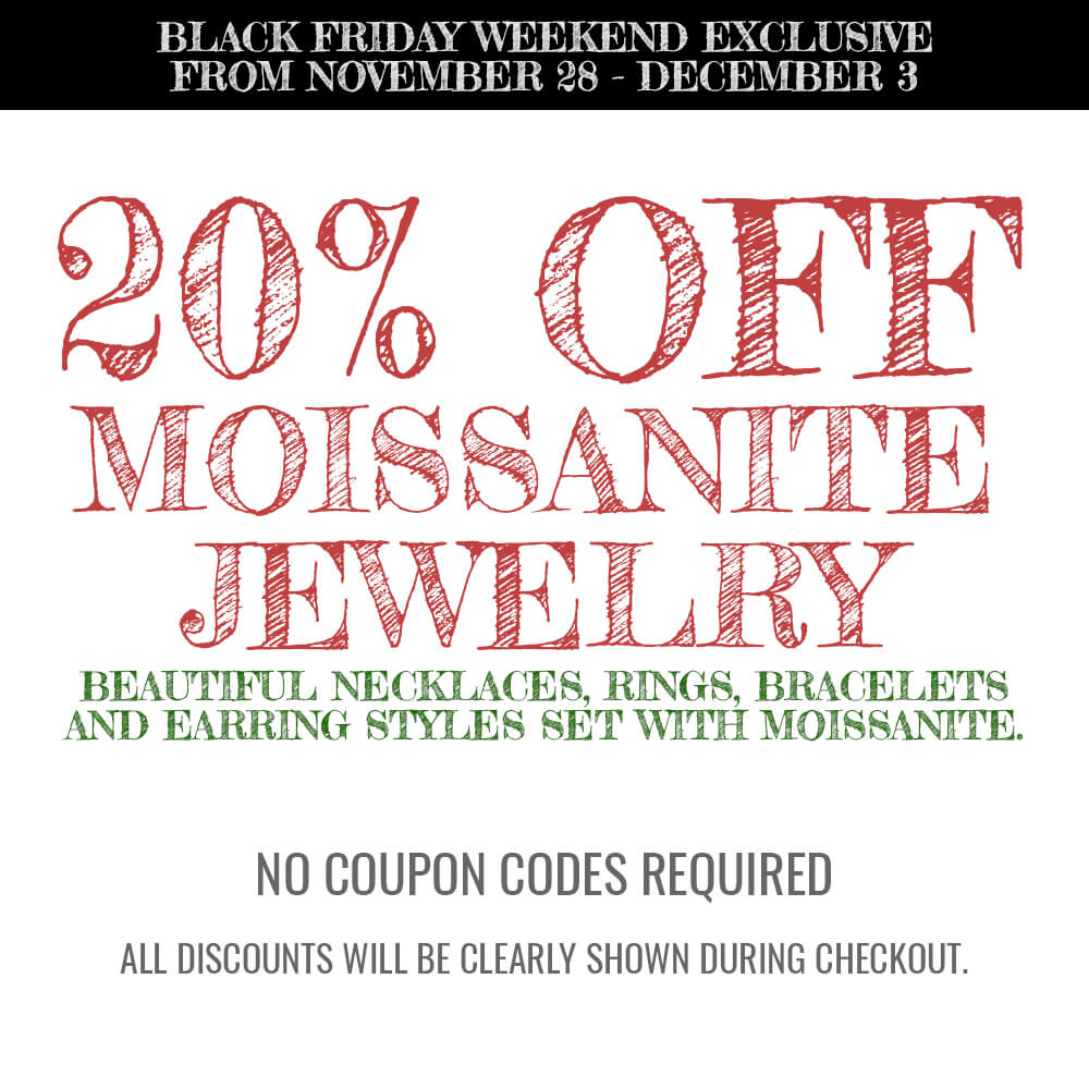 20% Off All Moissanite Jewelry