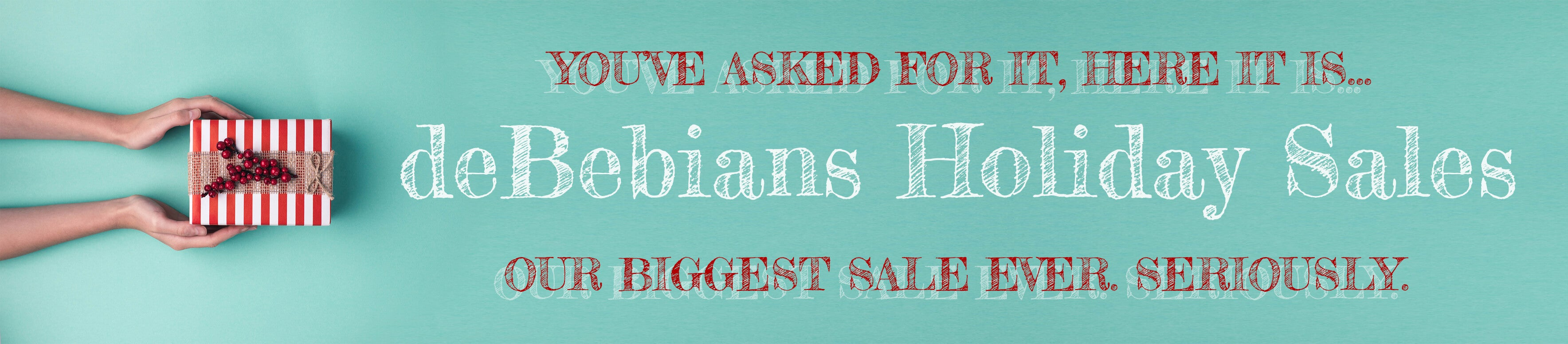 2019 deBebians Holiday Sales and Black Friday Jewelry Sale width=