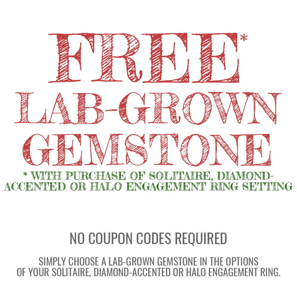 Free Lab Created Sapphire or Rudy for Your Engagement Ring Setting