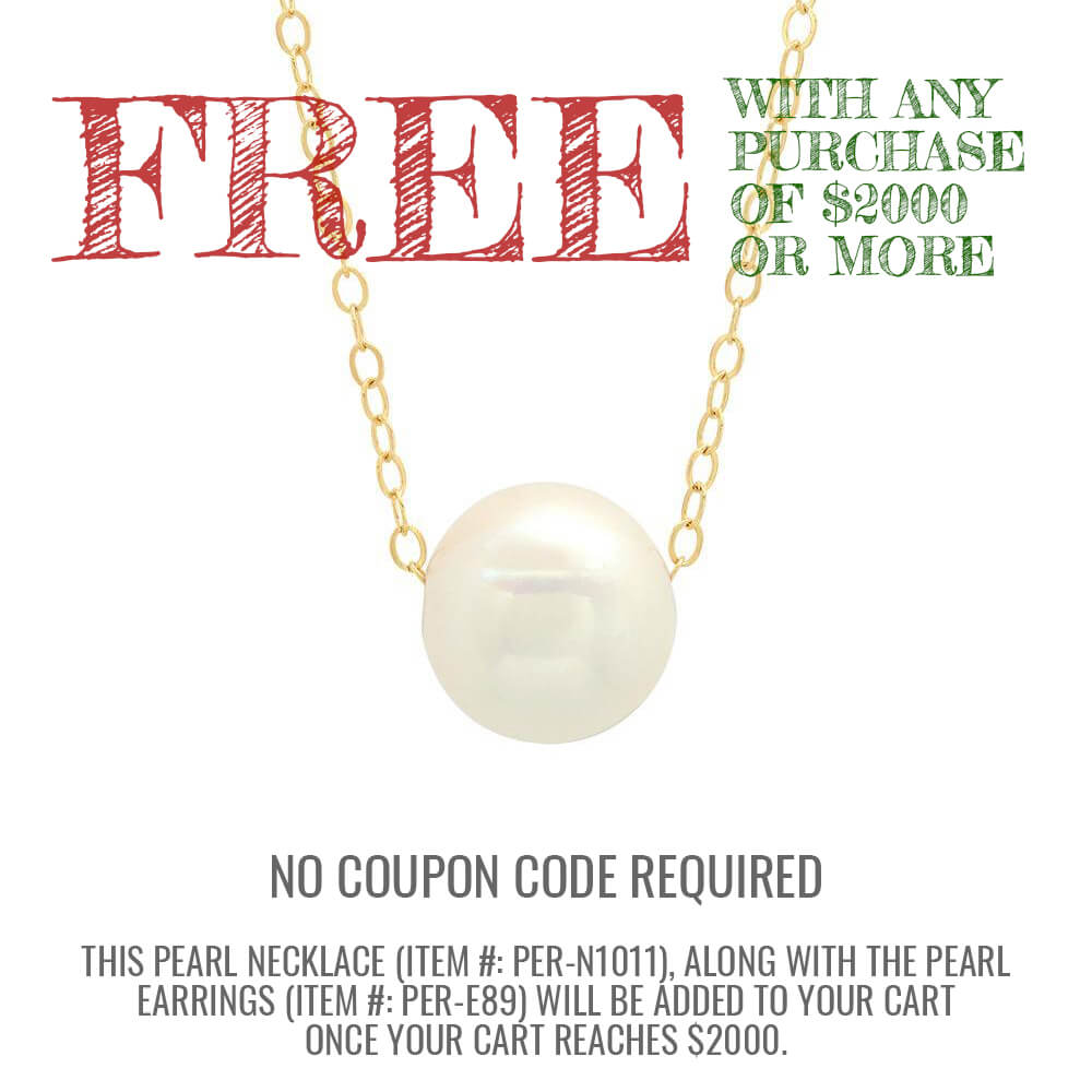Spend $2000 with deBebians and receive Free Pearl Earrings and a Pearl Necklace