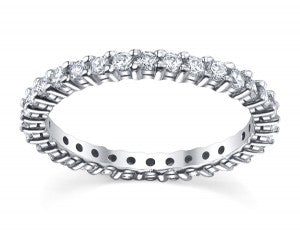 shared prong diamond eternity wedding bands