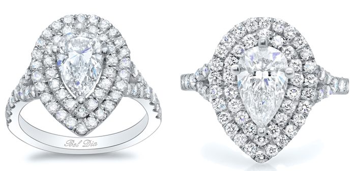 double halo ring sale
