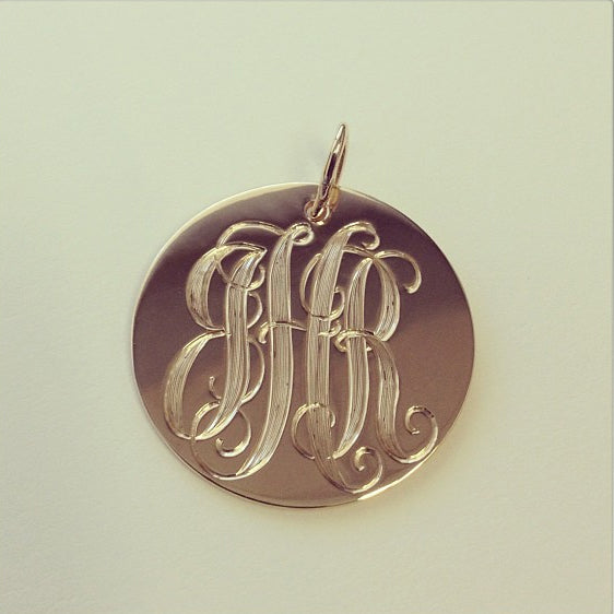 engraved necklace monogram