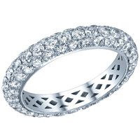 diamond eternity ring three row pave