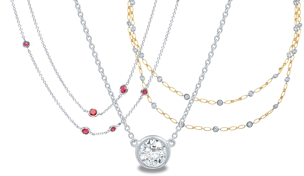 Women's Gold and Diamond Necklaces
