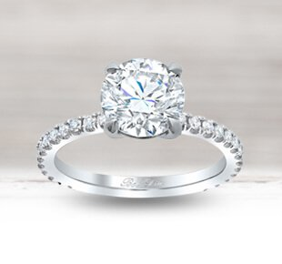 Moissanite Engagement Bands