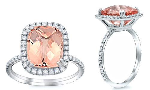 Style # FR-01 shown with a morganite center stone.