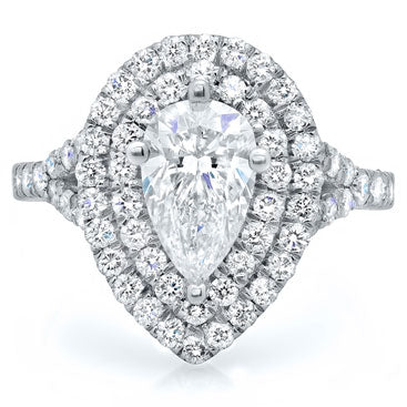 pear diamond double halo engagement ring