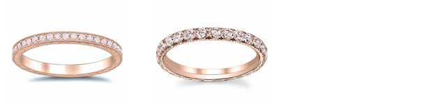 Pink diamond eternity bands