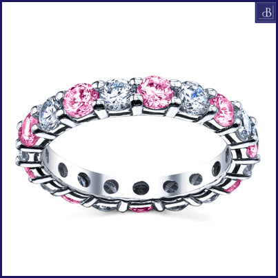 eternity rings with pink sapphires
