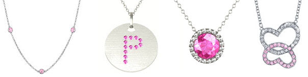 Pink sapphire necklaces
