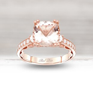 Rose Gold Morganite Engagement Rings