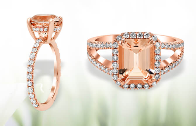 Morganite & Rose Gold Engagement Rings