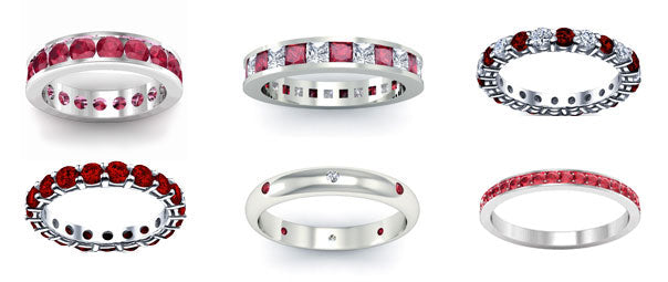 Ruby eternity rings