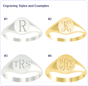signet ring engraving options
