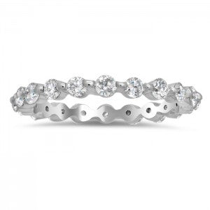 1.00 cttw Single Prong Diamond Band