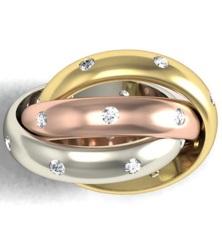 gold rolling rings