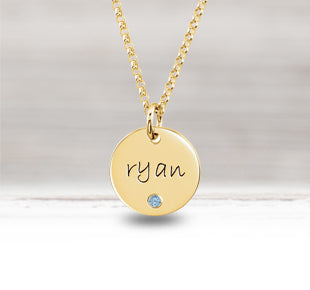 Personalized Gold Necklaces