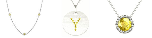 Yellow sapphire necklaces