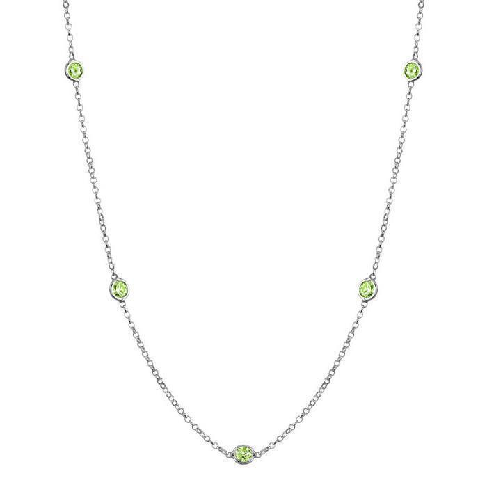Peridots Station Necklace Necklaces deBebians