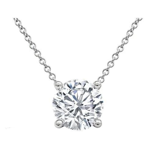 f9df455caff98e Prong or Bezel Set Diamond Solitaire Pendant GIA Certified
