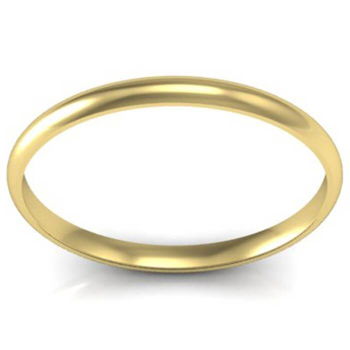 1.5 Gold Domed Wedding Band Plain Wedding Rings deBebians