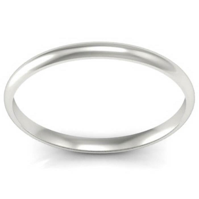 1.5 Gold Domed Wedding Band