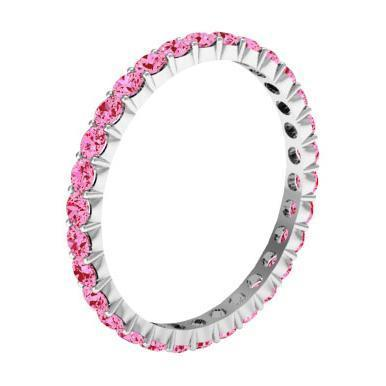 1.00 cttw Pink Sapphire Eternity Ring