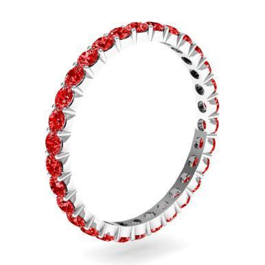 1.00 cttw Ruby Eternity Ring