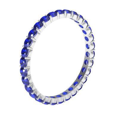 1.00 cttw Sapphire Eternity Ring Gemstone Eternity Rings deBebians