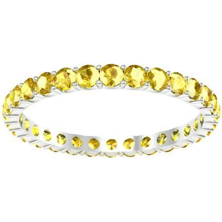 1.00 cttw Yellow Sapphire Eternity Ring Gemstone Eternity Rings deBebians