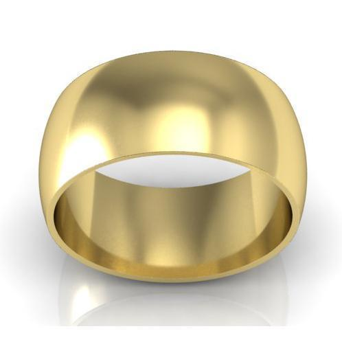 10mm Traditional Wedding Ring in 18 Karat Gold Plain Wedding Rings deBebians