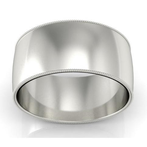 Faceted Platinum Ring