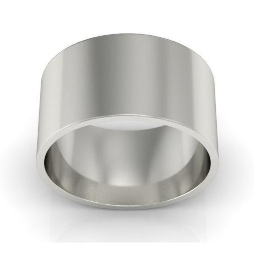 10mm Flat Wedding Ring in 18k