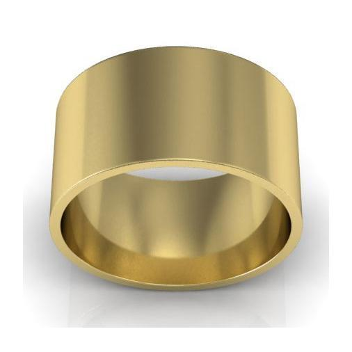 10mm Flat Wedding Ring in 18k Plain Wedding Rings deBebians