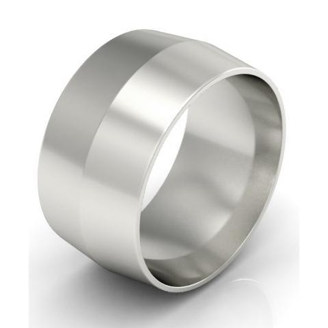 10mm Platinum Wedding Band Knife Edge Platinum Wedding Rings deBebians